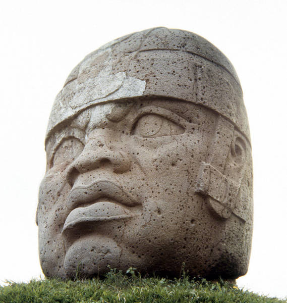 Photograph - Mexico: Olmec Head by Granger