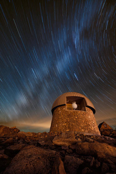 Fourteener Photograph - Meyer Womble Star Trails by Mike Berenson