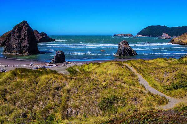 Oregon Dunes Photograph - Meyers Beach Coastline by Garry Gay