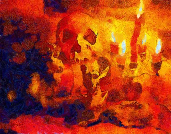 Digital Art - Mezzanotte Natura Morta, Con Demoni by William Sargent