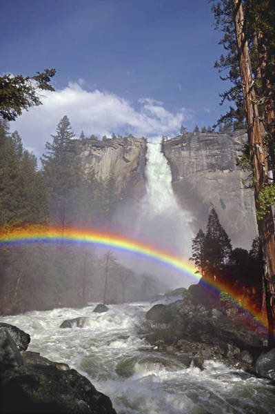 Photograph - Mff181 Nevada Fall And Rainbow by Ed Cooper Photography