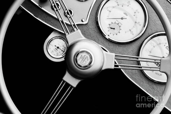 Photograph - Mg Steering Wheel Abstract by Tim Gainey