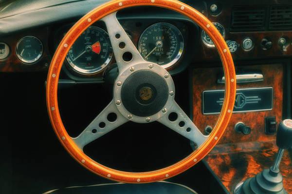 Wall Art - Photograph - Mg Steering Wheel by Georgia Fowler