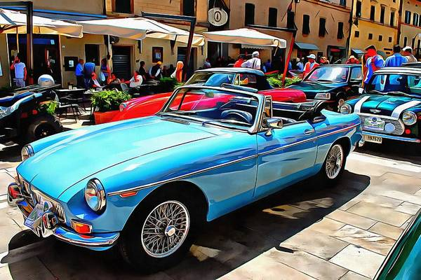 Photograph - Mgb Blue by Dorothy Berry-Lound