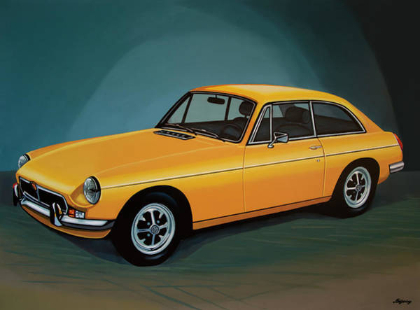 Oldtimer Wall Art - Painting - Mgb Gt 1966 Painting  by Paul Meijering