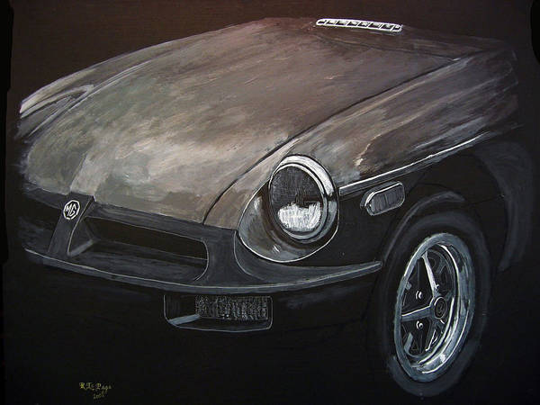 Painting - Mgb Rubber Bumper Front by Richard Le Page
