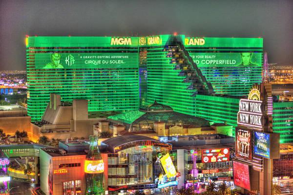 Grand Hotel Photograph - Mgm Grand Las Vegas by Nicholas  Grunas
