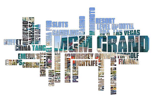 Fabulous Digital Art - Mgm Grand Typography by Ricky Barnard