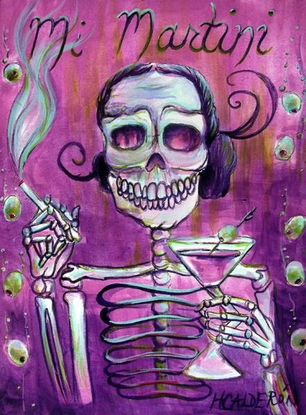 Wall Art - Painting - Mi Martini by Heather Calderon