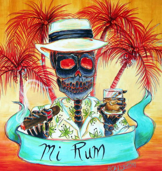 South Beach Painting - Mi Rum by Heather Calderon