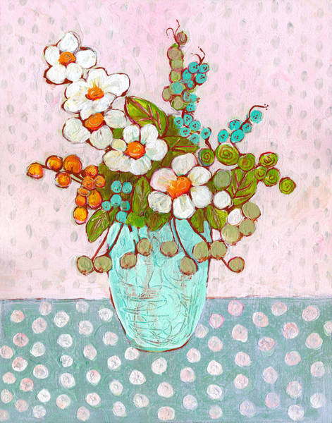 Wall Art - Painting - Mia Daisy Flowers by Blenda Studio