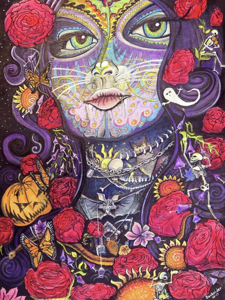 Painting - Mia De Los Muertos by David Sockrider