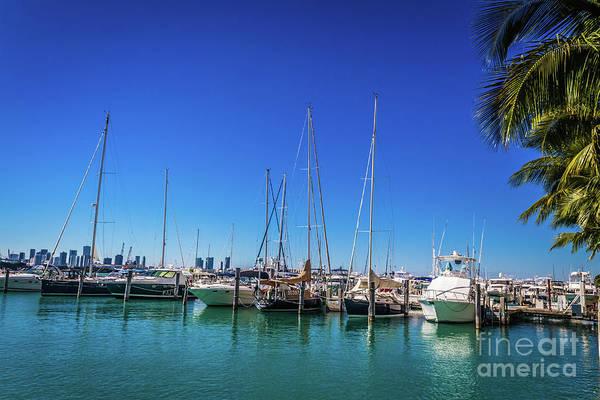 Photograph - Miami Beach Marina 4509 by Carlos Diaz