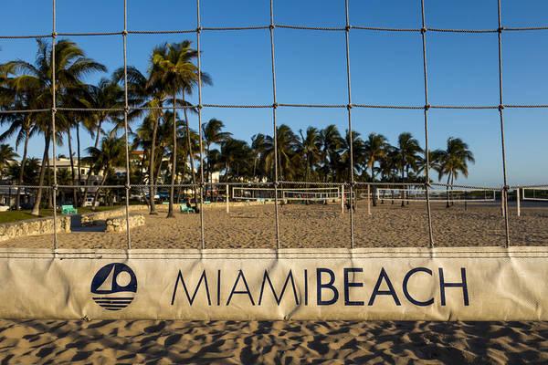 Photograph - Miami Beach Volleyball Net Lummus Park by Toby McGuire