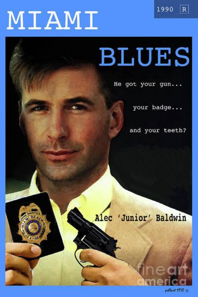 Dude Mixed Media - Miami Blues, Alec Baldwin, Movie Poster by Thomas Pollart