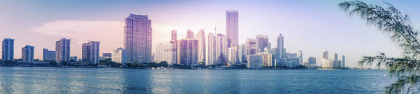 Wall Art - Photograph - Miami City Skyline by Art Spectrum