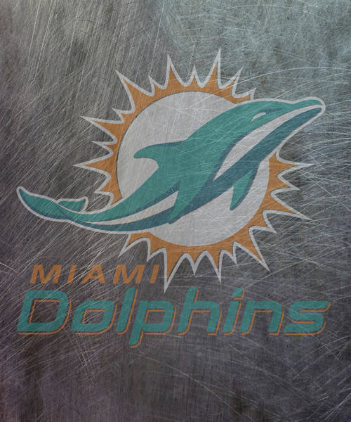 Mixed Media - Miami Dolphins Translucent Steel by Movie Poster Prints