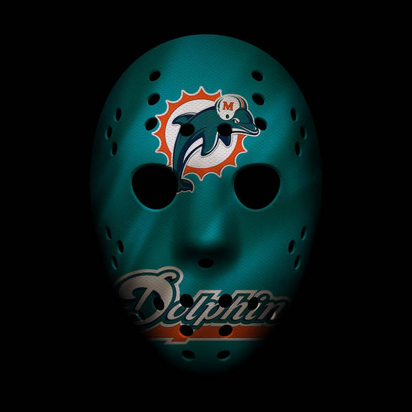 Dolphin Photograph - Miami Dolphins War Mask 2 by Joe Hamilton