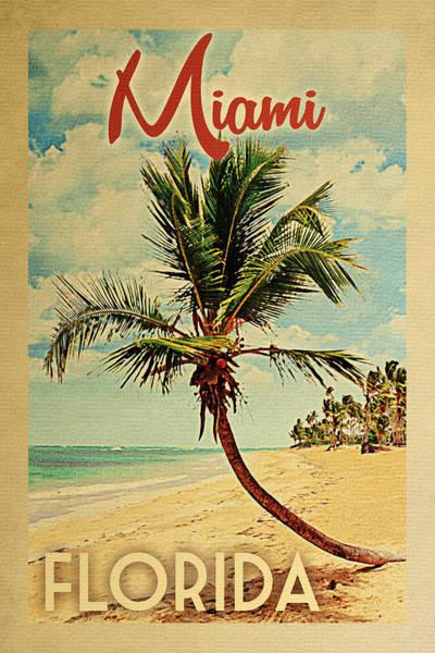 Palm Trees Digital Art - Miami Florida Palm Tree by Flo Karp