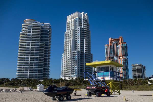Photograph - Miami Florida Skyline Miami Beach Ocean Rescue Lifeguard House by Toby McGuire