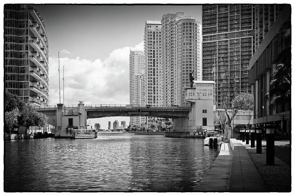 Photograph - Miami River 4040bw by Rudy Umans