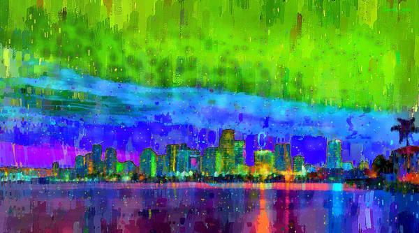 Miami-dade Digital Art - Miami Skyline 112 - Da by Leonardo Digenio