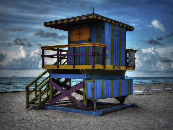 Photograph - Miami - South Beach Lifeguard Stand 002 by Lance Vaughn