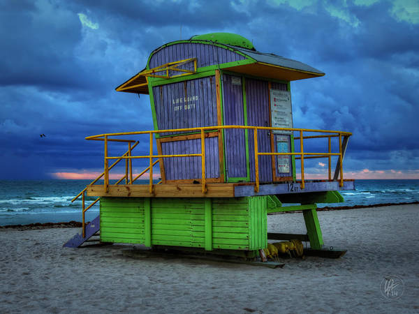 Photograph - Miami - South Beach Lifeguard Stand 004 by Lance Vaughn