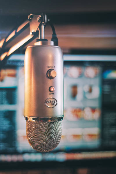 Recording Photograph - Mic Check 1 2 3 by Scott Norris