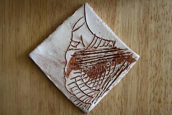 Ceramic Art - Micah - Tile by Gloria Ssali