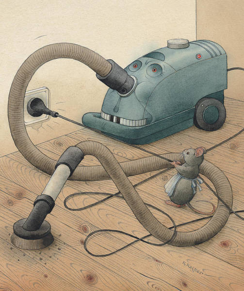Monsters Painting - Mice And Monster by Kestutis Kasparavicius