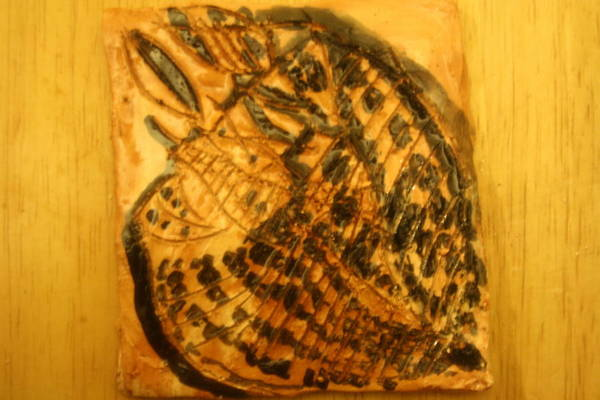 Ceramic Art - Michael - Tile by Gloria Ssali
