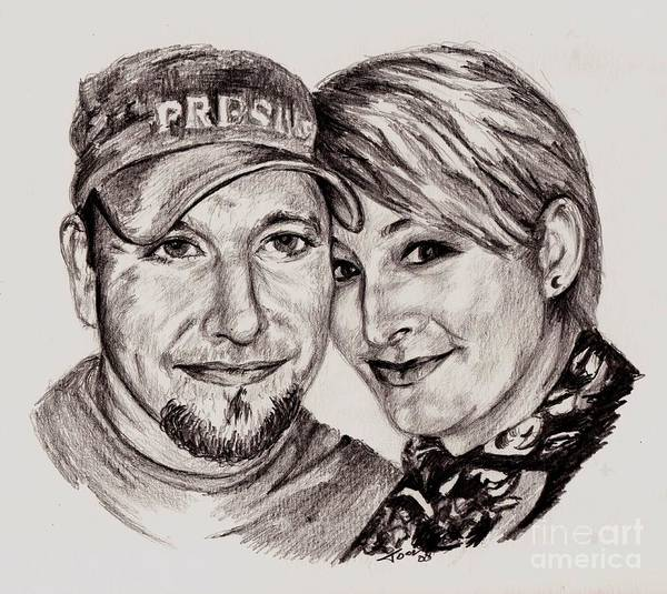 Drawing - Michael And Jane by Toon De Zwart