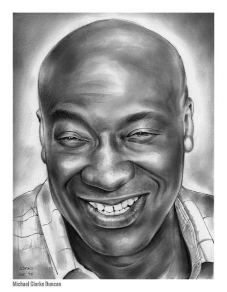 Academy Award Wall Art - Drawing - Michael Clarke Duncan by Greg Joens