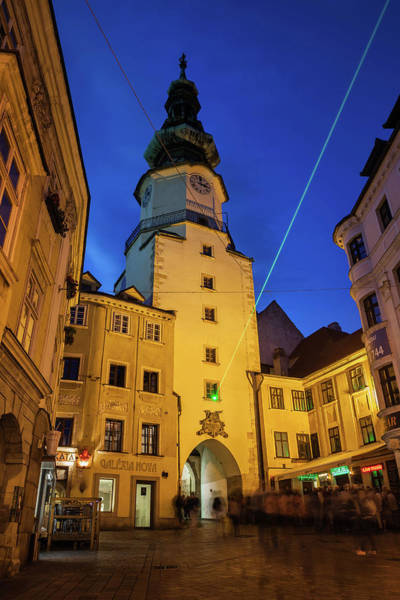 Bratislava Photograph - Michael Gate And Tower At Night In Bratislava by Artur Bogacki