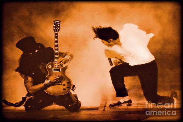 Photograph - Michael Jackson And Slash  by Gary Keesler
