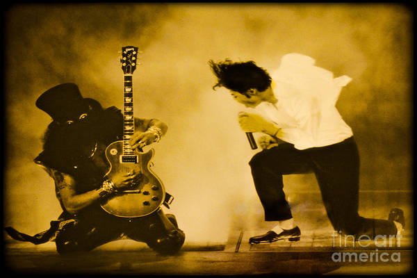Photograph - Michael Jackson And Slash Gold by Gary Keesler