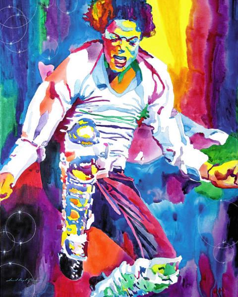 Painting - Michael Jackson Fire  by David Lloyd Glover