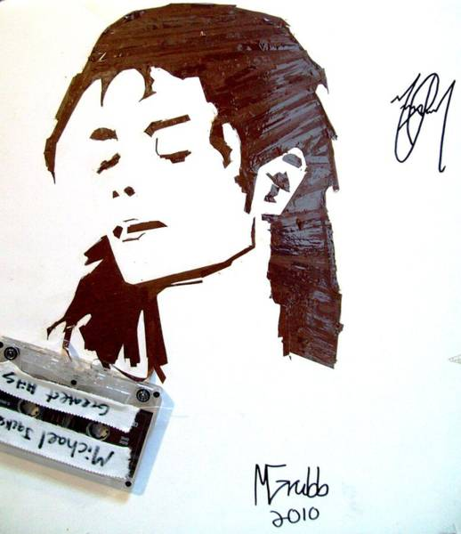 Recycle Painting - Michael Jackson by Michael Grubb