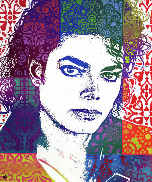 Painting - Michael Jackson Patchwork by Dean Russo Art
