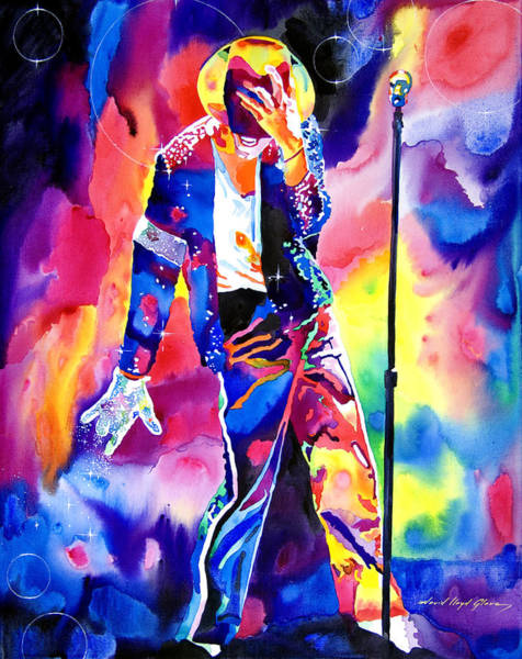 Wall Art - Painting - Michael Jackson Sparkle by David Lloyd Glover