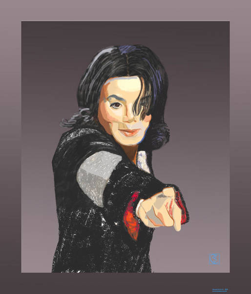 Painting - Michael Jackson-tell It Like It Is by Suzanne Cerny