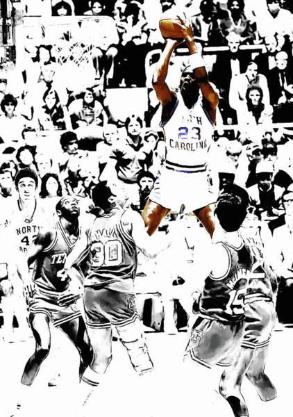 Wall Art - Mixed Media - Michael Jordan Rises                         by Brian Reaves