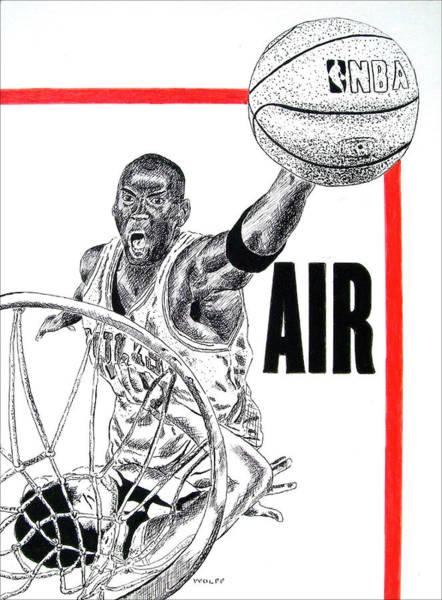 Nba Drawing - Michael Jordan by Vincent Wolff