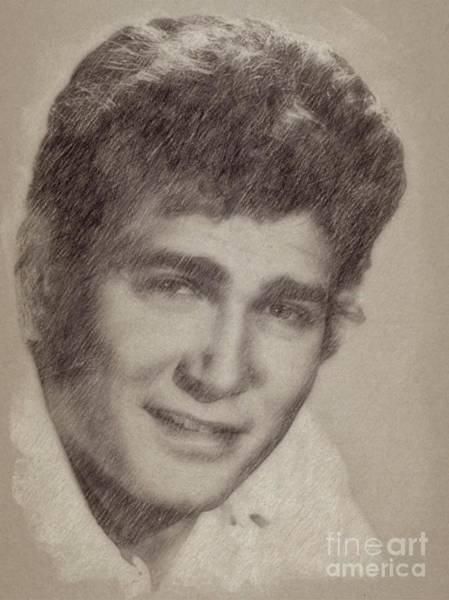 Wizard Drawing - Michael Landon, Actor, Little House On The Prairie by Frank Falcon