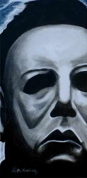 Wall Art - Painting - Michael Myers Up Close And Personal by Al  Molina