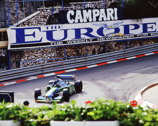 Photograph - Michael Schumacher After Winning 1994 Monaco Gp by John Bowers