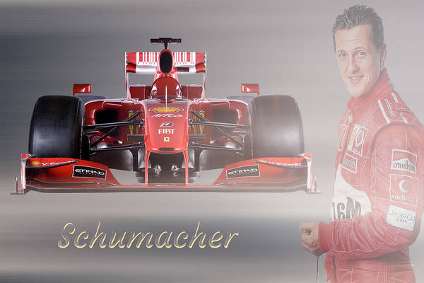 Wall Art - Mixed Media - Michael Schumacher by Smart Aviation