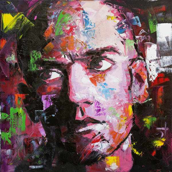 Indie Wall Art - Painting - Michael Stipe by Richard Day