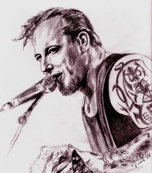 Drawing - Michael-volbeat by Toon De Zwart
